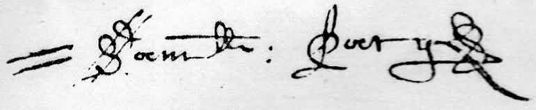 Samuel Pacy's distinctive signature